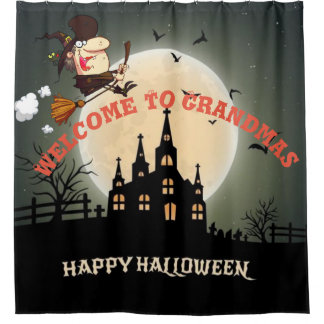 Happy Halloween Welcome To Grandmas Shower Curtain