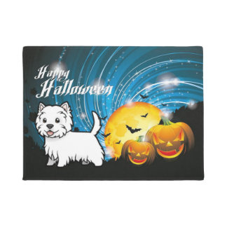Happy Halloween West Highland Terrier Doormat
