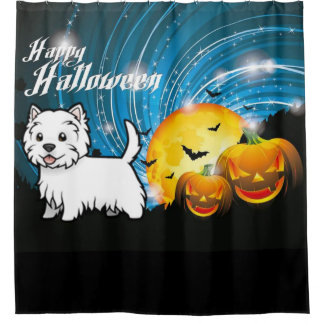 Happy Halloween West Highland Terrier Shower Curtain