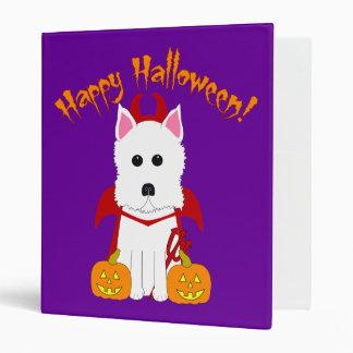 Happy Halloween Westie Binder