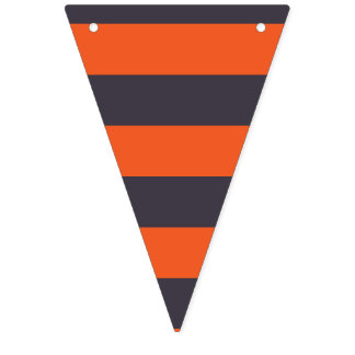 Happy Halloween. Whimsical Witch's Stripes. Bunting