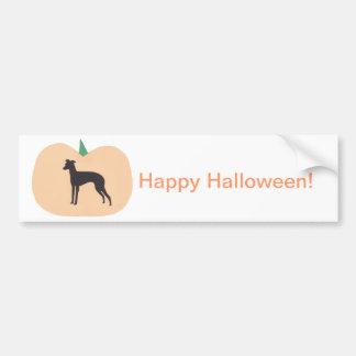 Happy Halloween Whippet Bumper Sticker