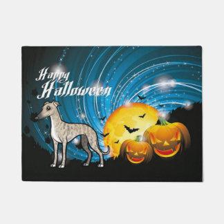 Happy Halloween Whippet Doormat