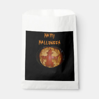 Happy Halloween White Favor Bag Favour Bags