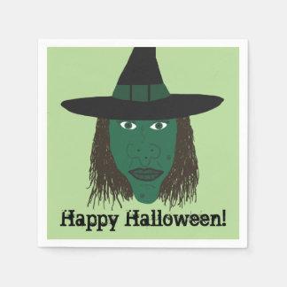 Happy Halloween | Wicked Witch Paper Napkin