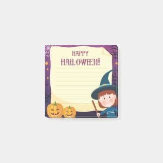 "Happy Halloween Witch 3"" x 3"" Post-it® Notes"