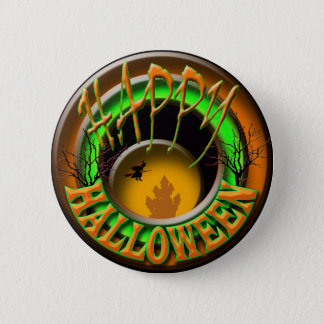 Happy Halloween witch 6 Cm Round Badge