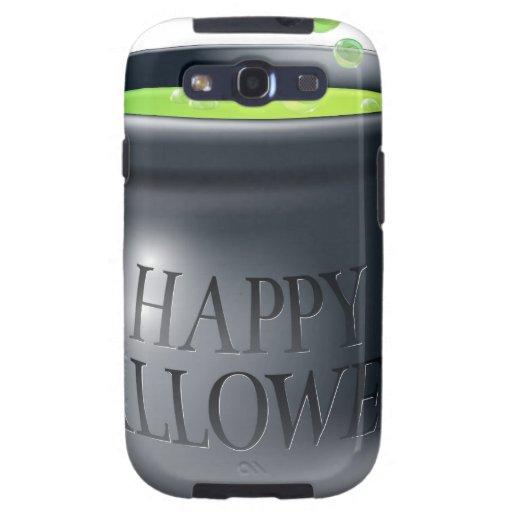 Happy Halloween witch cauldron Samsung Galaxy S3 Cases