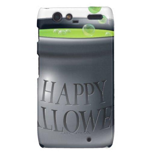 Happy Halloween witch cauldron Droid RAZR Covers