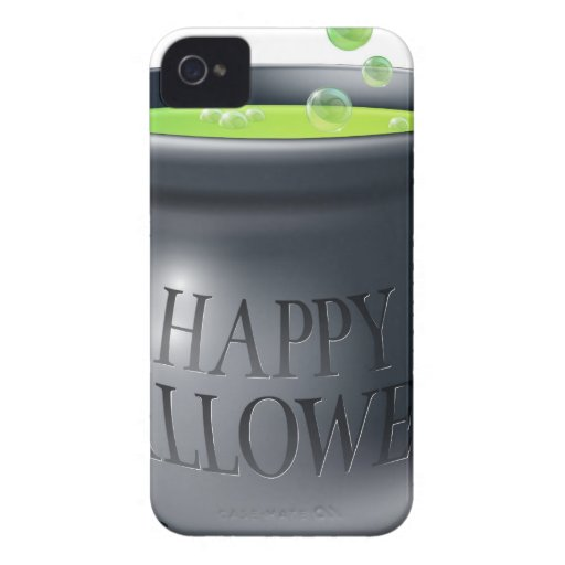 Happy Halloween witch cauldron iPhone 4 Case-Mate Cases