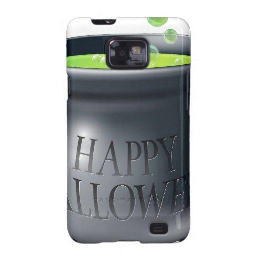 Happy Halloween witch cauldron Galaxy SII Cases