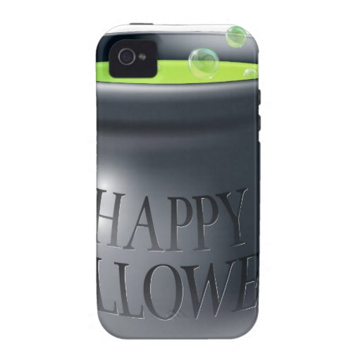 Happy Halloween witch cauldron iPhone 4/4S Cover