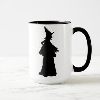 Happy Halloween Witch Coffee Mug Silhouette witch