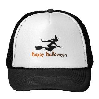 Happy Halloween Witch Trucker Hats