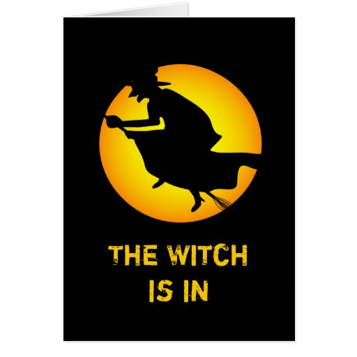Happy Halloween Witch is in Greeting Card