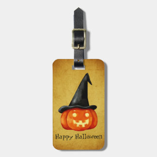 Happy Halloween Witch Pumpkin Luggage Tag