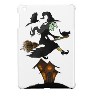 Happy Halloween! Witch Riding to Broomstick iPad Mini Cases