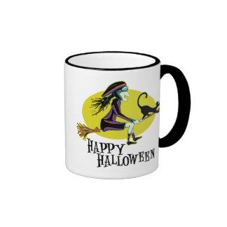 Happy Halloween Witch Ringer Mug