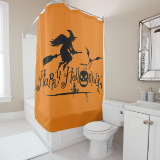 Happy Halloween Witch Shower Curtain