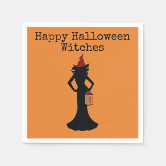 Happy Halloween Witches Cocktail Napkins For Adult Disposable Serviette