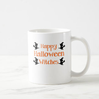 Happy Halloween Witches Classic White Coffee Mug