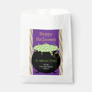 Happy Halloween, Witch's Pot, Personalized Favour Bags