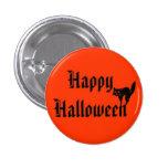 Happy Halloween with black cat 3 Cm Round Badge
