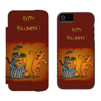 Happy Halloween with Cat Bat Dog and Spider Incipio Watson™ iPhone 5 Wallet Case