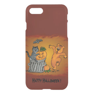 Happy Halloween with Cat Bat Dog and Spider iPhone 7 Case
