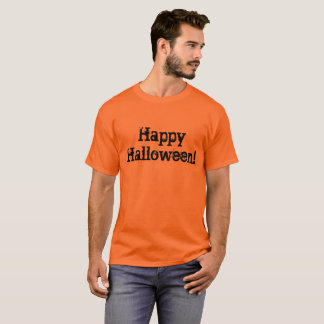 Happy Halloween with fun Halloween style letters T-Shirt