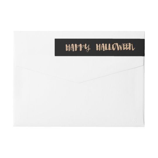 Happy Halloween Wrap Around Label