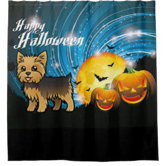 Happy Halloween Yorkie Shower Curtain