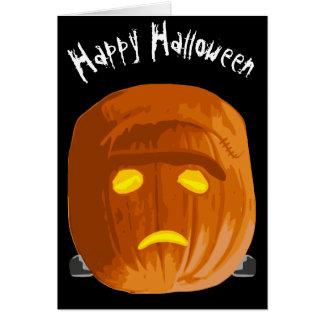 Happy Halloween You Hope Frankenstein Pumpkin Card