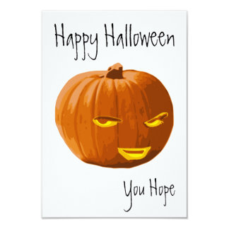 Happy Halloween - You Hope Pumpkin Card