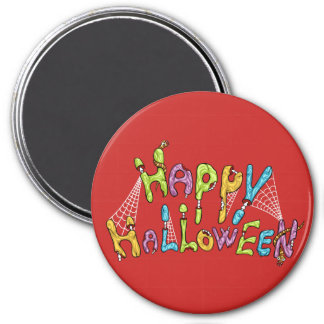 happy halloween - zombie graffiti magnet