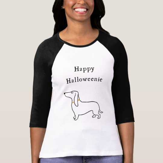 Happy Halloweenie Halloween dachshund T Shirt