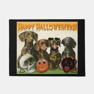 Happy Halloweiners Door Mat