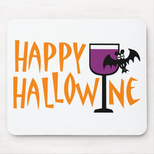 Happy Hallowine Mouse Mat