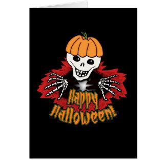 Happy Haloween Skeleton Greeting Card