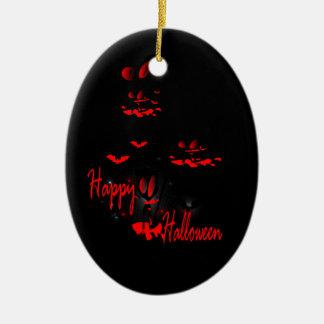 Happy Haloween vector art oval ornamnet Ornaments