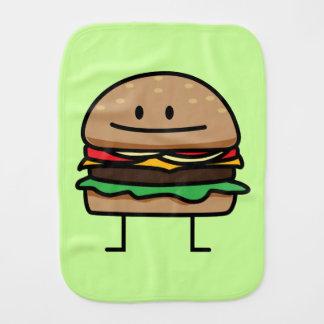 Happy Hamburger Burp Cloth