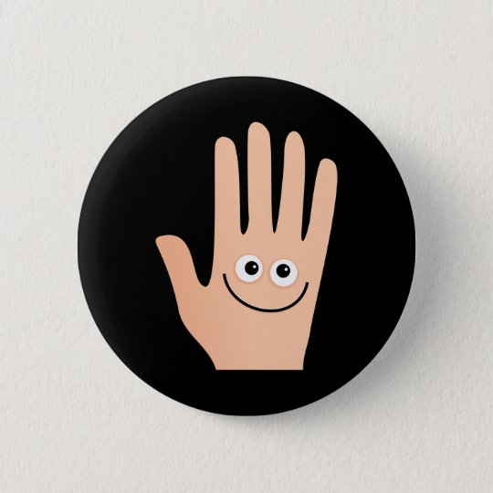 Happy Hand 6 Cm Round Badge