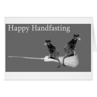 Happy Handfasting! Love Cats pagan wedding card