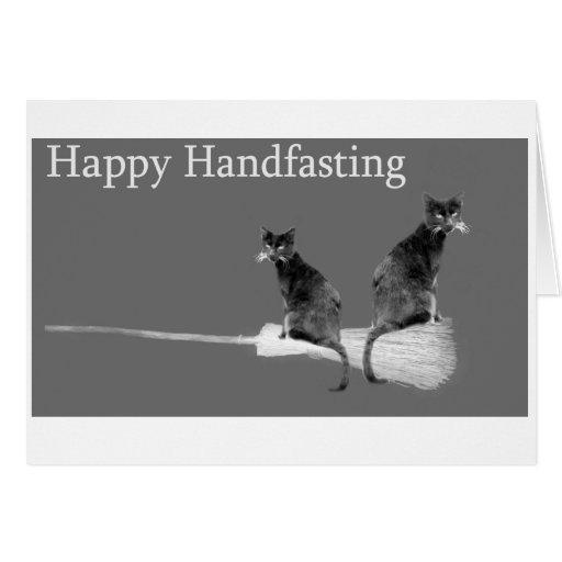 Handfasting Invitation: Happy Handfasting! Love Cats Pagan Wedding Card