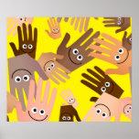 Happy Hands Wallpaper Poster