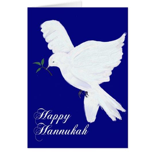 Happy Hannukah!-Peace Dove Card