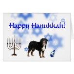 Happy Hanukkah Bernese Mountain Dog Greeting Cards