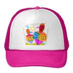 Happy Hanukkah Bright Dreidels Cap