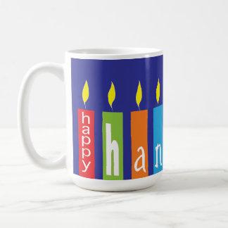 Happy Hanukkah Candles Mug