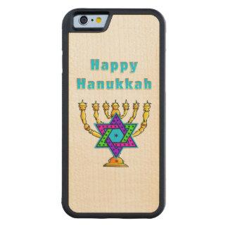 Happy Hanukkah Carved® Maple iPhone 6 Bumper Case